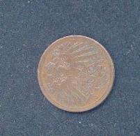 ALLEMAGNE -1 PFENNIG 1898 J - [ 2] 1871-1918 : Empire Allemand