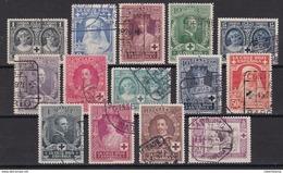 ESPAÑA 1926 - Cruz Roja Española Serie Usada Edifil Nº 325/338 - Oblitérés