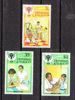 """Trinidad &Tobago -1979. I Tre Francobolli  """"Cure Mediche Dei Bimbi"""". """" Dentista"""". MNH - Medicina"""