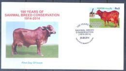 K1228- Pakistan 2014. 100 Years Of Sahiwal Breed Conservation. - Pakistan