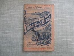 PETIT CARNET HORAIRE DU TRAMWAY DE DINARD 35 A SAINT BRIAC 1910 PUBLICITES - Dinard
