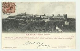 MONTALCINO ( SIENA )1902 VIAGGIATA FP - Siena