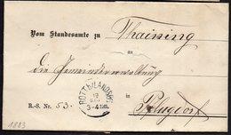 RARE PREPHILATELY ENVELOPE LETTER GERMANY VORPHILA 1883. ROTT LANDSBERG PFLUGDORF - Germania