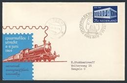 Nederland Netherlands Pays Bas 1969 Cover Brief - SPOORPHILEX 69 - 6 T.E.M., Utrecht / Briefmarkenausstellung - Treinen