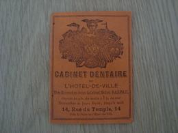 DOCUMENT PUBLICITAIRE CABINET DENTAIRE DE L'HOTEL-DE-VILLE 14 RUE DU TEMPLE PARIS - Publicités