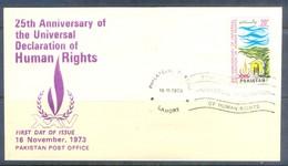 K1247- FDC Of Pakistan Year 1973. 25th Anniversary Of Human Rights. - Pakistan
