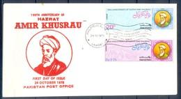 K1265- FDC Of Pakistan Year 1975. Amir Khusrau. - Pakistan