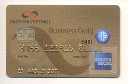 Credit Card Bankcard Mizrahi Tefahot Bank ISRAEL AmEx American Express Business Gold Expired - Carte Di Credito (scadenza Min. 10 Anni)