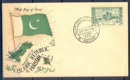 K1270- FDC Of Pakistan Year 1956.  Republic Day. - Pakistan