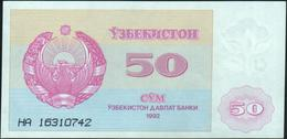 UZBEKISTAN - 50 Sum 1992 UNC P.66 - Uzbekistan