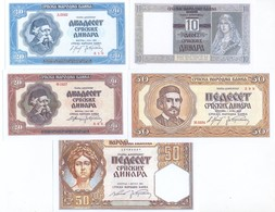 Serbia 12 Note Set 1941-43 Complete WWII Issues COPY - Serbia