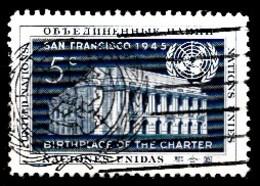 Nations Unies New-York 1952  Mi.Nr: 16 Tag Der Vereinte Nationen  Oblitèré / Used / Gebruikt - New-York - Siège De L'ONU