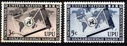 Nations Unies New-York 1953  Mi.Nr: 21-22 Weltpostverein UPU  Oblitèré / Used / Gebruikt - New-York - Siège De L'ONU