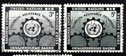 Nations Unies New-York 1953  Mi.Nr: 23-24 Tag Der Vereinten Nationen  Oblitèré / Used / Gebruikt - New-York - Siège De L'ONU
