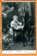 SPR496, Enfant, Peinture, Cheval En Bois, Jouet, Marionette, Atavisme, Paul Prévot, Circulée Sous Enveloppe - Neonati