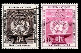 Nations Unies New-York 1954  Mi.Nr: 29-30 Arbeitsorganisation  Oblitèré / Used / Gebruikt - New-York - Siège De L'ONU