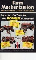 International Harvester Tractor Range   -  Publicite D'epoque 1959  -  CPM - Tracteurs