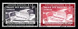 Nations Unies New-York 1954  Mi.Nr: 31-32 Tag Der .....  Oblitèré / Used / Gebruikt - New-York - Siège De L'ONU