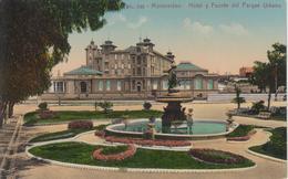 CPA Uruguay - Montevideo - Hotel Y Fuente Del Parque Urbano - Uruguay