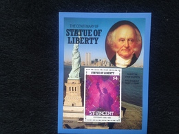 St Vincent The Centenary Of The Statue Of Liberty $4 S/S - St.Vincent (1979-...)