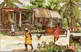 Sandbox Avenue Barbados West Indies WI Expo 86 Come Visit Us Postcard Z2 - Postcards