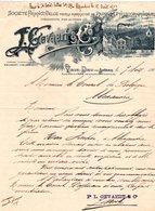 1 Faktuur Oude God Vieux Dieu Lez Anvers L. Gevaert&C° Fabrication De Papiers Photographiques  C1902 - Belgium