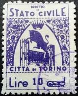 Italie Italy Italia Stato Civile Citta Di Torino O Used Osato - Italy
