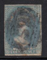 Tasmania 1857-69 Used Sc 13a 4p Queen Victoria Blue - Oblitérés