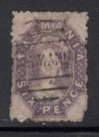 Tasmania 1864-91 Used Sc 32e 6p Queen Victoria Purple - Oblitérés