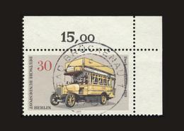 Berlin 1973, Michel-Nr. 448, Berliner Verkehrsmittel, 30 Pf., Eckrand Rechts Oben, Gestempelt - Gebraucht
