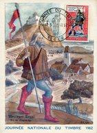 JOURNEE NATIONALE DU TIMBRE1962. MESSAGER ROYAL FIN DU MOYEN AGE. ALGER, FRANCE. POSTALE CPA SPC - LILHU - Journée Du Timbre