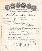 1 Faktuur Herentals Herenthals Fabrique De Draps & Couvertures De Laine Van GenechtenFrères (J.Diercxsens) C1920 - Belgium