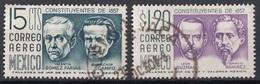 Messico 1956 Sc. C236-C237 Constitution Farias Ocampo Guzman Ramirez Mexico Used - Messico