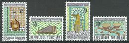 Tunisie YT N°671/674 Instruments De Musique Neuf ** - Tunisie (1956-...)
