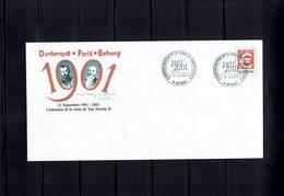 PAP 2001 - Centenaire De La Visite (1901 / 2001) Du TSAR NICOLAS II En FRANCE ( BETHENY - Près De REIMS) 5 Enveloppes- - Entiers Postaux