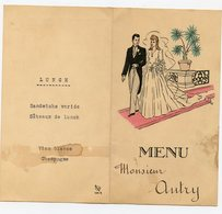 MENU Restaurant  AUTRY Mère GUY TAPUSCRIT 1949 40s Pouilly Morgon Langouste Foie Gras Poularde Bresse - Menus