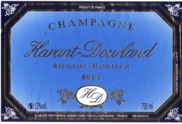Etiquette  Champagne Harant Dourlant - Trélou Sur Marne - Champagne