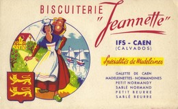Buvard Biscuiterie Jeannette - IFS CAEN - Calvados - Food