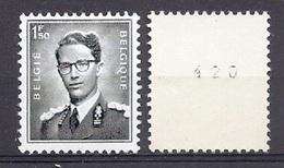 BELGIE  Boudewijn Bril * R 27  Met NR * ROLZEGEL * Postfris Xx - Coil Stamps