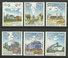 BOTSWANA 1997 RAILWAY CENTENARY,ANIMALS SET MNH - Botswana (1966-...)