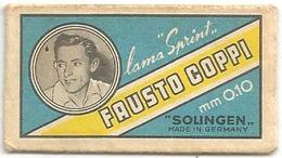 Sport, Ciclismo, Pubblicità, Lametta Da Barba Solingen Sprint Fausto Coppi. - Altre Collezioni