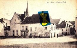 ATH - Place Du Nord - Carte Circulée En 1913 Et Animée - Quaregnon