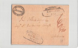17455 AGENZIA DEL LLOYD AUSTRIACO ANCONA - CORFU TO CEFALONIA - FRONT OF ENVELOPE - Grèce