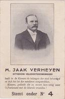 Antwerpen 1910, M.Jaak Verheyen. Stemt Onder Nr4 - Antwerpen
