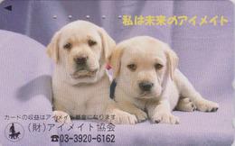 Télécarte Japon / 110-011 - ANIMAL - CHIEN LABRADOR Guide D' Aveugle - DOG For Blind People Japan Phonecard - 1242 - Japan