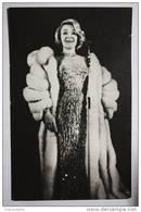 Marlene Dietrich Actress  - Old Soviet Postcard - 1986 - Acteurs