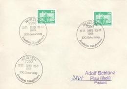 DDR Beleg Mit Sonderstempel Wurzen Joachim Ringelnatz 1983 - [6] République Démocratique