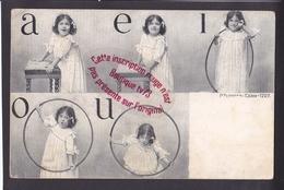 Q1391 -  A E I  O U - Les Voyelles - Enfant - Lecture écriture Orthophonie Orthophoniste - Alterocca Terri 1707 - Kinderen