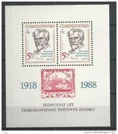 1988 MNH  Ceskoslovensko, Block 87 - Blocks & Sheetlets