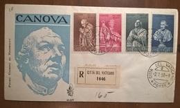 POSTE VATICANE 1958 CANOVA - FDC